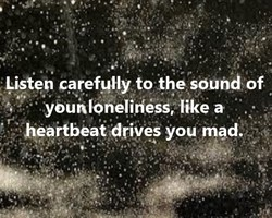 Gsten carefully to the sound of 