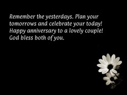 Remember the yesterdays. Plan your 