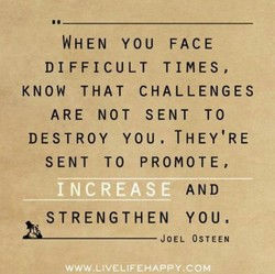 WHEN YOU FACE 