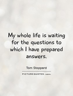 My whole life is waiting 