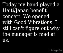 Today my band played a 