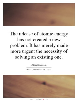 The release of atomic energy 