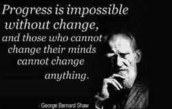 Progress is impossible 