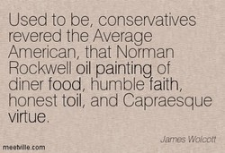 Used to be, conservatives 