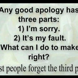 Any good apology has 