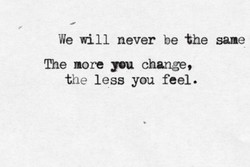 We will never be the same 