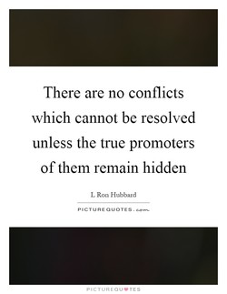 There are no conflicts 