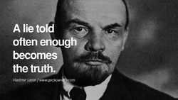 A lie told 