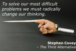To solve our most difficult 