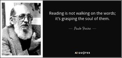 Reading is not walking on the words;