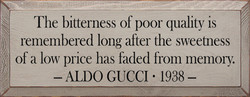 The bitterness of poor quality is 