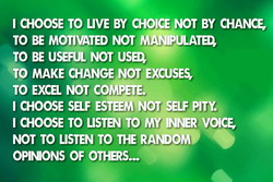 CHOOSE TO LIVE BY CHOICE NOT BY CHANC 