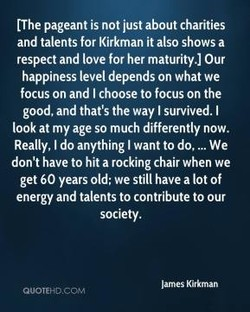 [The pageant is not just about charities 