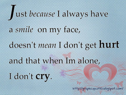 ust because I always have 