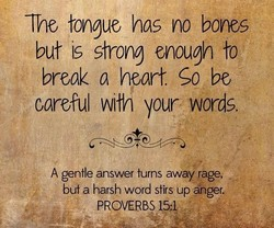 The tongue has no bones 