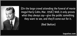 Lon the large crowd attending the funeral of movie 