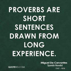 PROVERBS ARE 