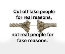 Cut off fake people 