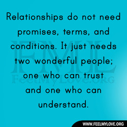 Relationships do not need 