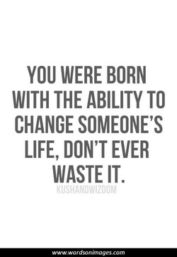 YOU WERE BORN 
