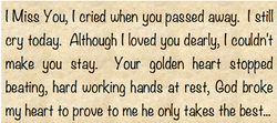 I Migg You, ( cried when you pagged away. t gtil( 