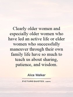 Clearly older women and 
