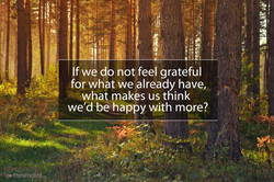 If we do not feelgrateful 