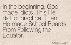 'In the beginning, God 