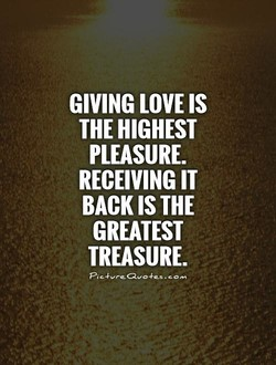 GIVING LOVE IS 