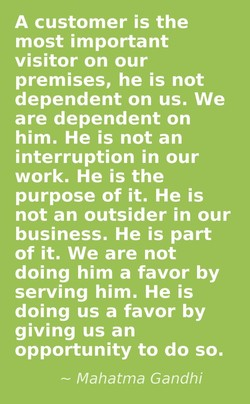 A customer is the 