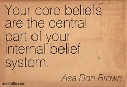 Your core beliefs 