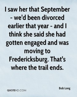 I saw her that September 