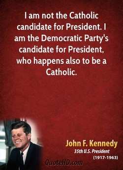 I am not the Catholic