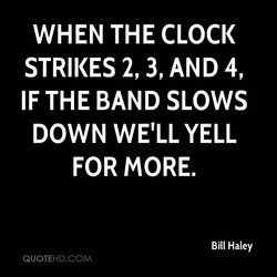 WHEN THE CLOCK 