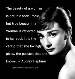 The beauty of a woman 