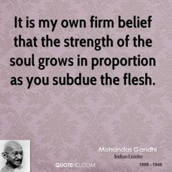 It is my own firm belief 