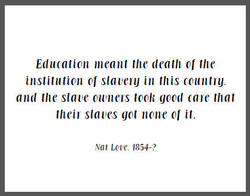 Education meant the death the 