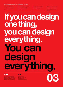 Five phrases to live bv: Massimo Vignelli 