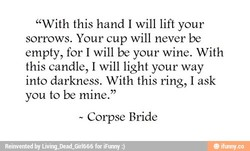 ' 'With this hand I will lift your 