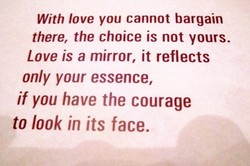 With love you cannot bargain 