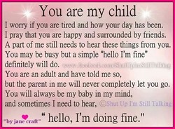 You are my child 