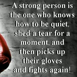 A strong person is 