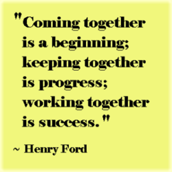 Coming together 