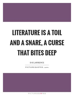 LITERATURE IS A TOIL 
