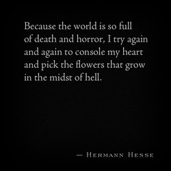 Because the world is so full 