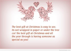 The best gift at Christmas is easy to see. 