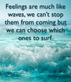 Feelings are much like 