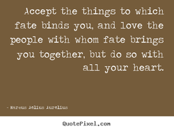 Accept the things to which 