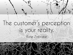 The customer's perception 