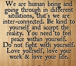 We are human being and 